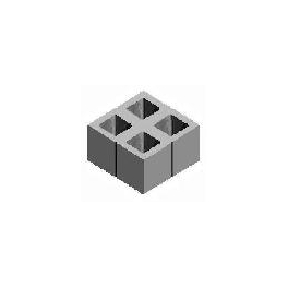 БСС 380х380х190  (4)  Модуль бетонный шлифованный (4ст.) п. 31